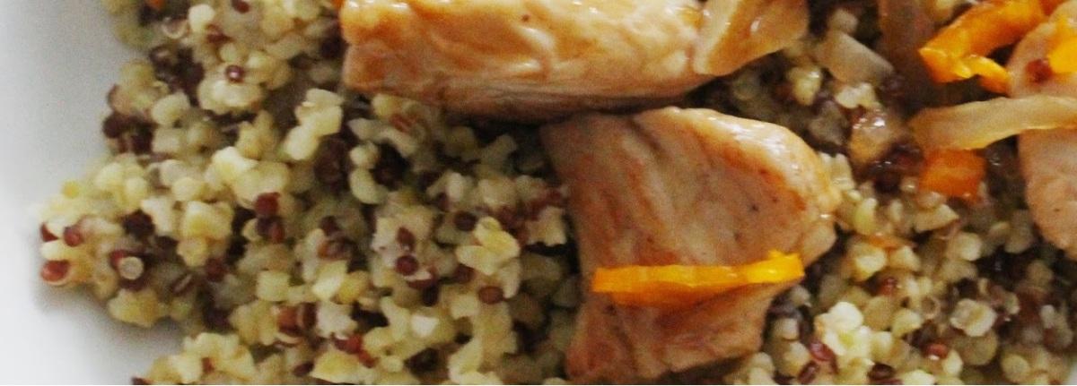 Hühnchen in Chili-Orangensauce mit Quinoa