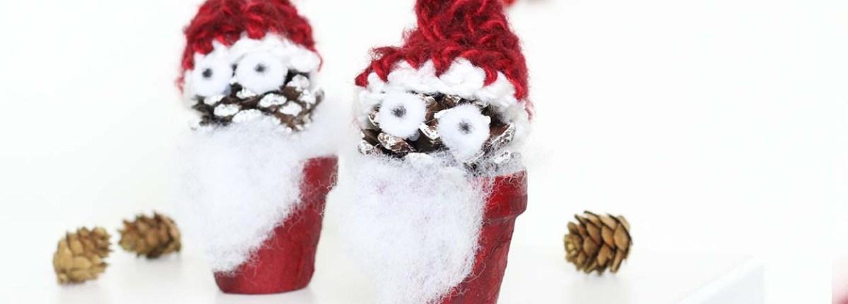DIY: Nikolo oder Weihnachtsmann - Zapfenmännchen