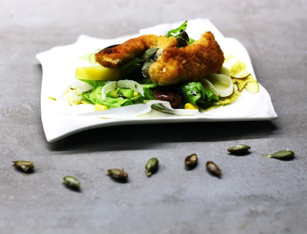Backhendl Salat1