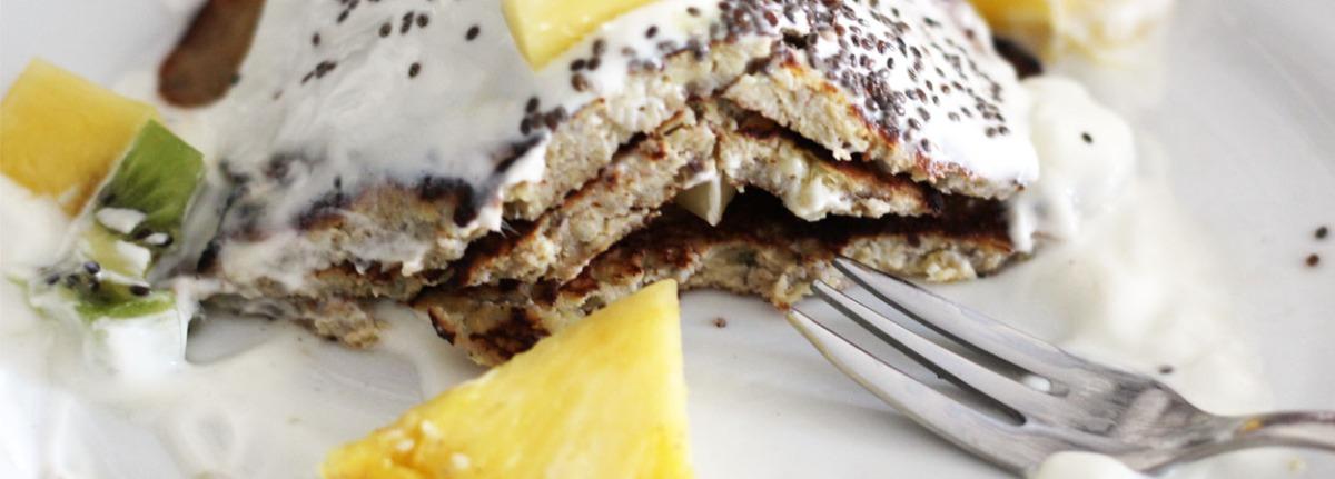 Süße Bananen Chia Pancakes *zuckerfrei