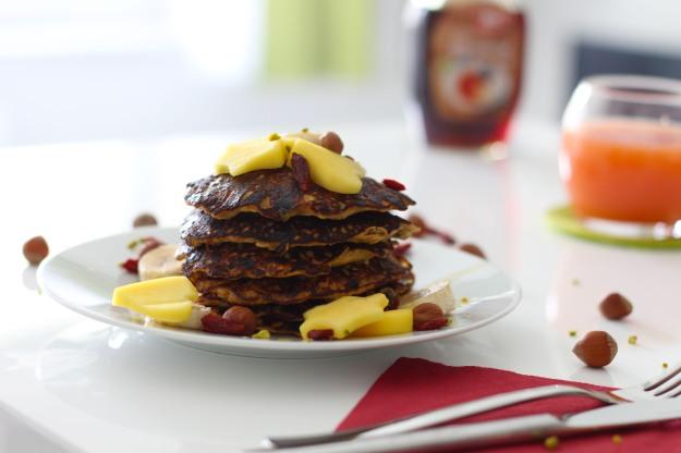 Bananen- Granola Pancakes 4